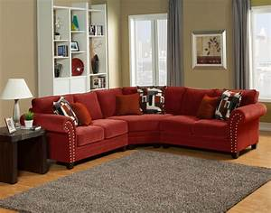 sectional sofa design good looking red leather sectional With red and brown sectional sofa