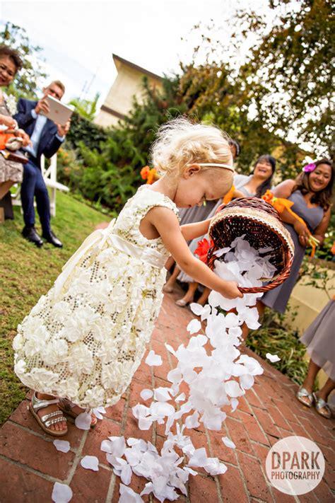 fun ways   rose petals   wedding flyboy