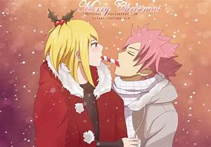Santa's candy - Natsu x Lucy Fan Art (33140441) - Fanpop
