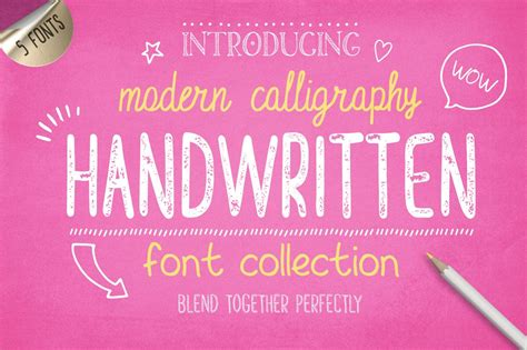 handwritten font collection display fonts creative market