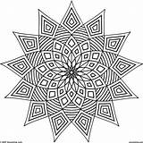 Coloring Kaleidoscope Pages Printable Adults Patterns Getcolorings sketch template