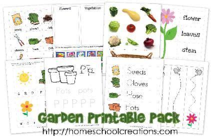 garden themed printables for preschool and kindergarten 311 | c1e0d87516280eb1193a017774364320
