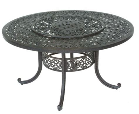 patio table with lazy susan and 5