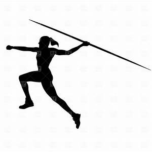 woman throwing javelin | Clipart Catalog / Sport and ...
