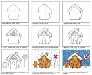Draw A Gingerbread House  U00b7 Art Projects For Kids