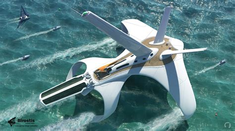 Hydrofoil Yacht Design by Concept Ships Birostis Hydrofoil Clipper By Diego