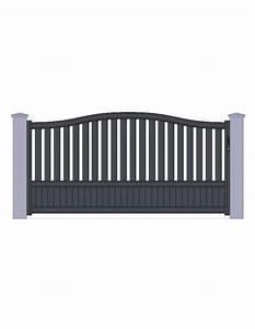 Portail Brico Depot 4m : portail aluminiun gris standard coulissant chapeau de gendarme largeur x ~ Farleysfitness.com Idées de Décoration