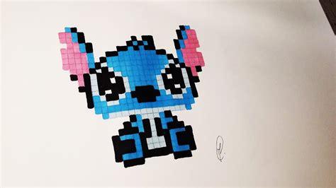 Kawaii Baby Stitch Pixel Art