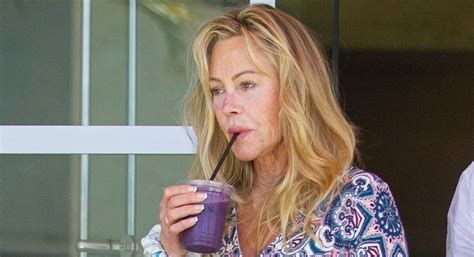 melanie griffith    juice run  celebrating