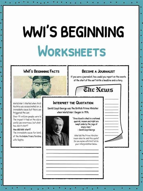 ww start worksheets facts information