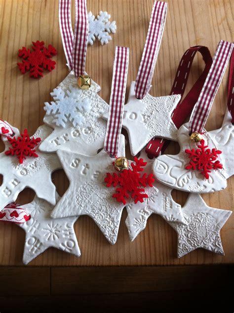 air drying clay christmas decoration handmade christmas