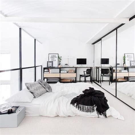 Bedroom Design Inspiration Minimalist by White Scandinavian Loft Bedroom Vosgesparis House