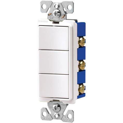 3 switch light switch eaton 15 three single pole combination decorator light