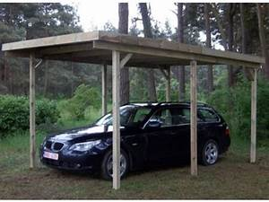 Abri Voiture En Bois : abri voiture simple toit plat id575 contact france abris ~ Nature-et-papiers.com Idées de Décoration