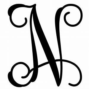 vine monogram letter n initial initials monograms and With monogram letter n