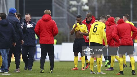 This is the match sheet of the bundesliga playoffs game between holstein kiel and 1. Team of Koeln appears frustrated after the 3 liga match between... News Photo - Getty Images
