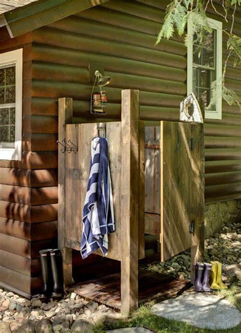 Building An Outdoor Bathroom 16 Diy Outdoor Shower Ideas A Of Rainbow