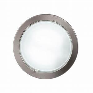 Round recessed ceiling light satin chrome from litecraft