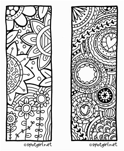 zentangle bookmark printable from spotgirl hotcakes hotcakes free printable