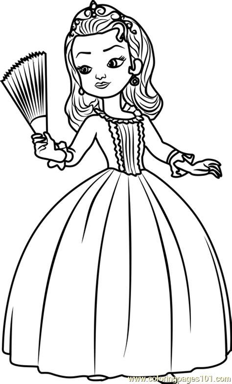 princess amber coloring page  sofia