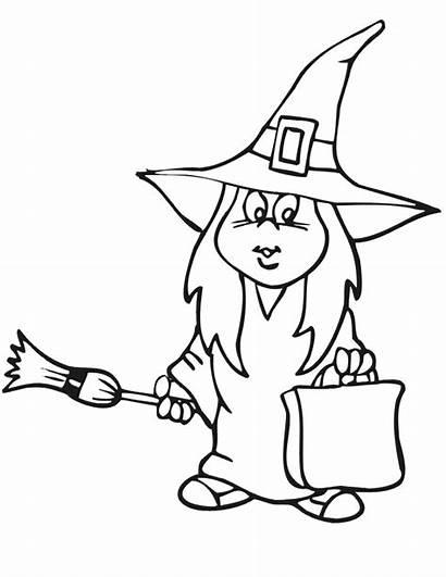 Halloween Coloring Vrajitoare Witch Kleurplaten Kleurplaat Trick