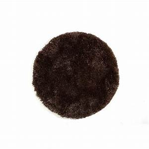 miliboo tapis shaggy rond chocolat 100 cm ugo achat With tapis rond 100 cm