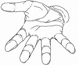 Hand Outline Template Printable - ClipArt Best