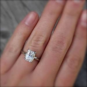 emerald moissanite twig engagement ring carved floral With moissanite wedding rings