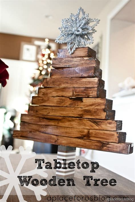 easy christmas craft wooden christmas tree