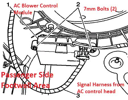 Chevy Colorado Wiring Problem by Chevrolet Automatic Temperature Blower Module