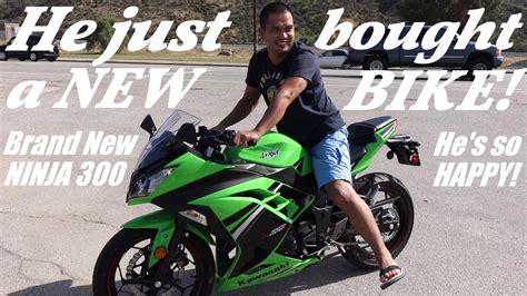 2014 Kawasaki Ninja 300! He Just Bought A Motorcycle! A