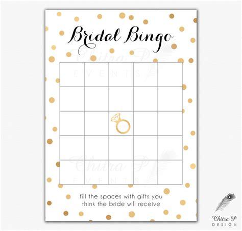 bridal shower bingo template black gold bridal shower bingo cards printed or printable