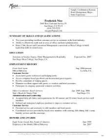 concierge resume