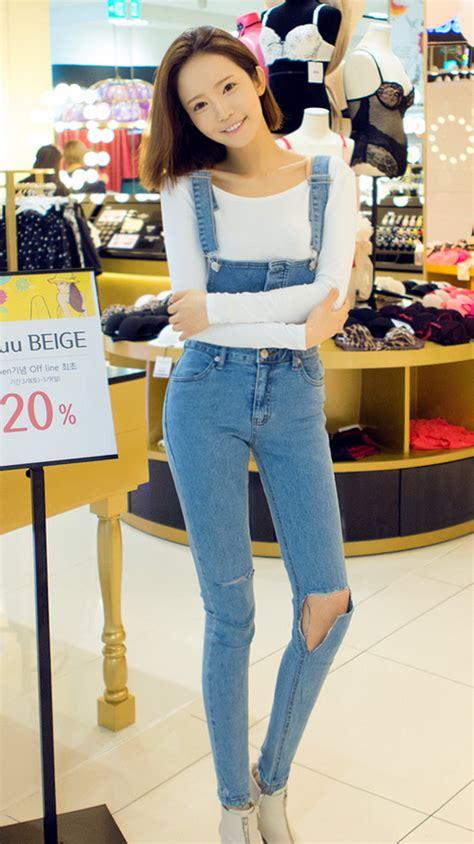 [Chuu] Distressed Skinny Jumper Pants | KSTYLICK - Latest Korean Fashion | K-Pop Styles ...