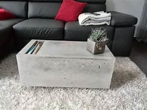 Farbe Auf Beton : die besten 25 couchtisch beton ideen auf pinterest ~ Michelbontemps.com Haus und Dekorationen