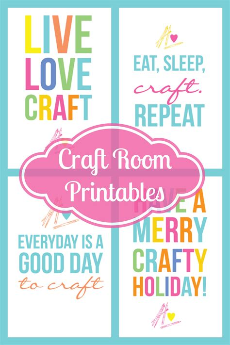 craftaholics anonymous colorful  craft room printables