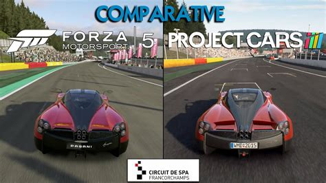 mobil project spa project cars vs forza 5 huayra spa francorchs