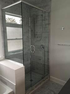douche facade avec retour vitrerie verre design With porte de douche coulissante avec panneau mural décoratif salle de bain