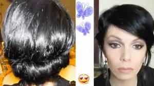 Coiffure Cheveux Court : coiffure chignon pour cheveux courts youtube ~ Melissatoandfro.com Idées de Décoration