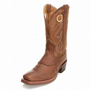Ariat Mens Heritage Roughstock Square Toe Cowboy Boots Brown