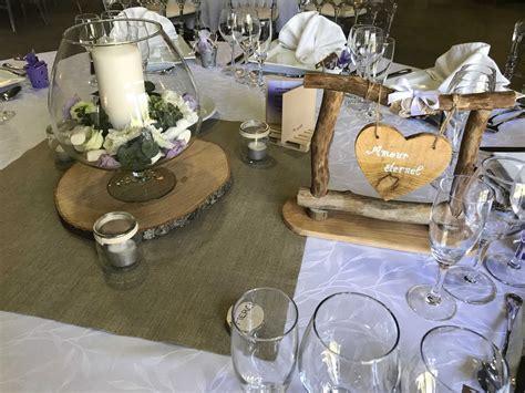 """Décoration De Table Pour Mariage Thème """"champêtre Parme"""