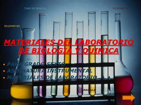 materiales laboratorio de biologia y quimica