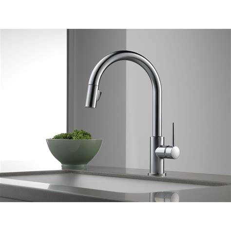delta kitchen faucets delta faucet 9159 dst trinsic polished chrome pullout