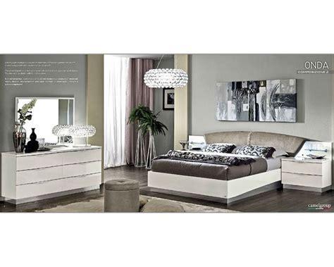 Modern Bedroom Set Onda In White Color 3313on