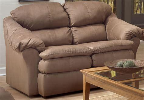 Contemporary Microfiber Sofa by Camel Microfiber Contemporary Sofa Loveseat Set W Pillow