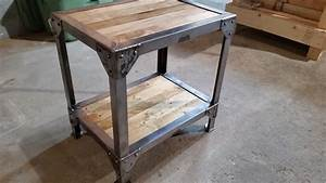 Making a Wood and Metal Side Table End Tables - YouTube
