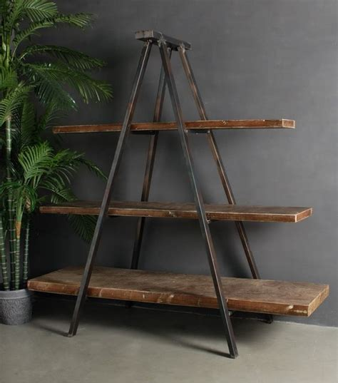 A Frame Bookcase by Industrial Tripod Bookcase Metal Frames Ranges And Charms