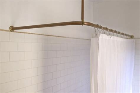 copper pipes shower curtain rail www thisisladyland