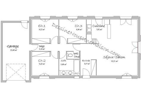 plan de maison 5 chambres plain pied plan de maison traditionnelle gratuit plan maison plain