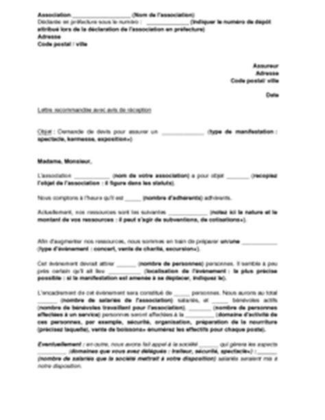 exemple gratuit de lettre demande devis assurance 233 v 232 nementiel par association